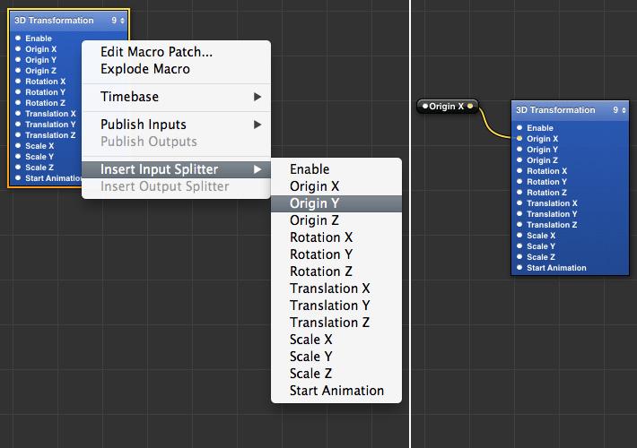 Input Splitter Shortcut