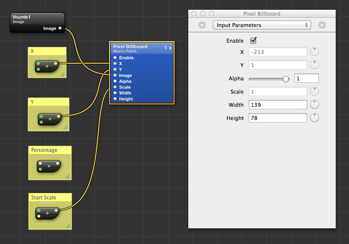 Pixel Sprite Parameters